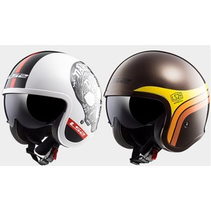 【送料無料】【LS2(エルエスツー)】 国内正規品 SG認定 インナーバイザー付 ジェットヘルメット SPITFIRE(スピリットファイヤ)グラフィックタイプ レト|teito-shopping