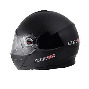 【LS2】 ジーマックライド (G-MAC-RIDE) ブラックメタリック システムヘルメット UVカットシールド・バイザー標準装備 【SG規格取得・公道走行可】|teito-shopping|03