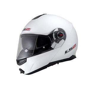 【送料無料】【LS2】 ジーマックライド (G-MAC-RIDE) パールホワイト システムヘルメット UVカットシールド・バイザー標準装備 【SG規格取得・公道走行可】|teito-shopping