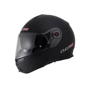 【LS2】 ジーマックライド (G-MAC-RIDE) マットブラック システムヘルメット UVカットシールド・バイザー標準装備 【SG規格取得・公道走行可】|teito-shopping