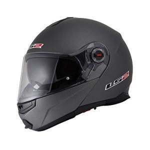 【送料無料】【LS2】 ジーマックライド (G-MAC-RIDE) マットチタニウム システムヘルメット UVカットシールド・バイザー標準装備 【SG規格取得・公道走行可】|teito-shopping