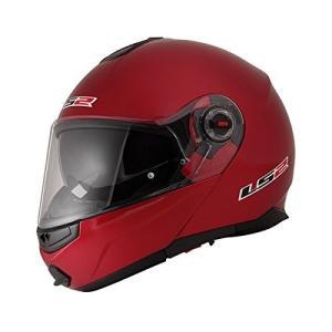 【LS2】 ジーマックライド (G-MAC-RIDE) レッドメタリック システムヘルメット UVカットシールド・バイザー標準装備 【SG規格取得・公道走行可】|teito-shopping
