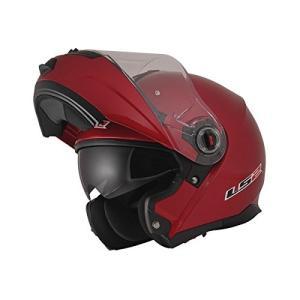 【送料無料】【LS2】 ジーマックライド (G-MAC-RIDE) レッドメタリック システムヘルメット UVカットシールド・バイザー標準装備 【SG規格取得・公道走行可】|teito-shopping|02