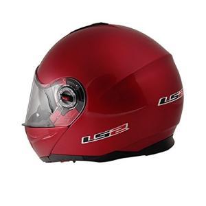 【送料無料】【LS2】 ジーマックライド (G-MAC-RIDE) レッドメタリック システムヘルメット UVカットシールド・バイザー標準装備 【SG規格取得・公道走行可】|teito-shopping|03