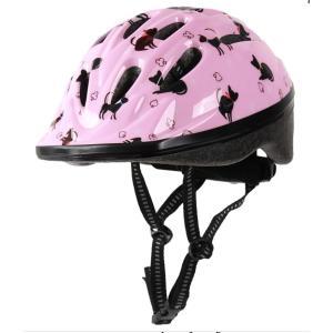 4960965966239  16-0281 クロネコ キッズヘルメット OMV-12 Sサイズ 48〜52cm ピンク キャットオリンパス ORINPの画像