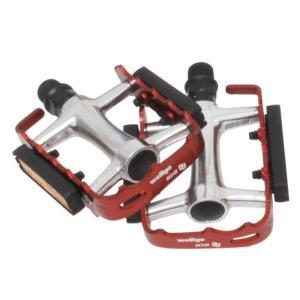 4510676391679  送料無料  wellgo ウェルゴ   自転車ペダル M248DU アルミケージペダル  レッド アルミ製カラーケージを採用 リフレクター付 teito-shopping