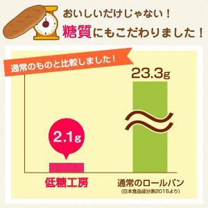 低糖質パン ロールパン 10本 バターロール 小麦ふすま ダイエット 糖質オフ|teitoukoubou|07