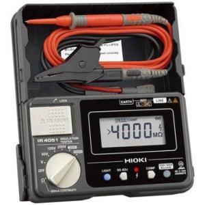 日置電機 HIOKI  IR4051-10  5レンジ絶縁抵抗計 スイッチなしリード付属 50/125/250/500/1000V  『IR405110』|tekarimasenka