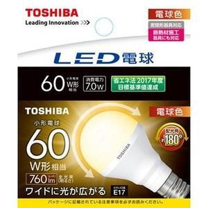 東芝 LDA7L-G-E17/S/60W  『LDA7LGE17S60W』 LED電球 一般形 電球色