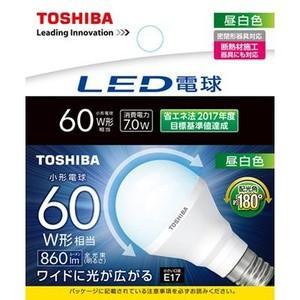 東芝 LDA7N-G-E17/S/60W 『LDA7NGE17S60W』 LED電球 一般形 昼白色
