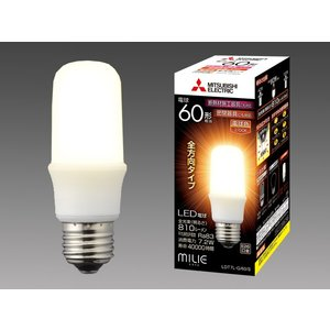 三菱電機 LDT7L-G/60/S LEDランプ 電球色 T型 一般電球60形 口金E26 『LDT7LG60S』|tekarimasenka