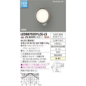 東芝   LEDB87920YL(S)-LS   (LEDB87920YLSLS)   LED屋外ブラケット|tekarimasenka