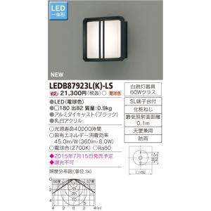 メーカー在庫限品 東芝   LEDB87923L(K)-LS   (LEDB87923LKLS)   LED屋外ブラケット|tekarimasenka
