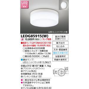 東芝 LEDG85915(W) 『LEDG85915W』 LED屋外小形シーリング 防雨形 蛍光灯30W相当 ランプ別売|tekarimasenka