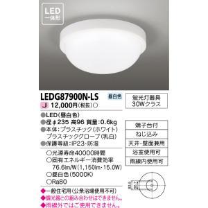 東芝 LEDG87900N-LS 『LEDG87900NLS』 照明器具  ポーチライト 軒下使用可 LED|tekarimasenka