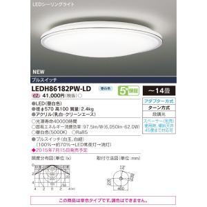 東芝ライテック(TOSHIBA)  LEDH86182PW-LD (LEDH86182PWLD)  LEDシーリング〜14畳|tekarimasenka