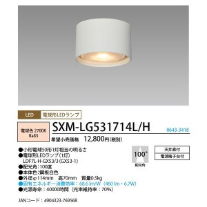 NEC SXM-LG531714L/H LED小型ダウンシー...