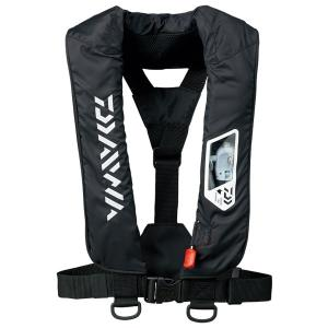 DF-2007 ウォッシャブルライフジャケット 肩掛けタイプ ブラック 船検対応 フリーサイズ DAIWA (ダイワ) 113878★