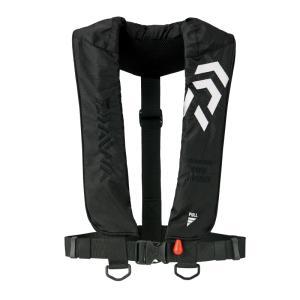 インフレータブルライフジャケット(肩掛けタイプ手動・自動膨脹式) DF-2608 ブラック 国土交通...