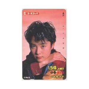 【テレカ】深津絵里 エースコック 1.5倍大盛り 中華焼きそば いか焼きそば テレホンカード ID-...