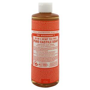 ドクター ブロナー DR BRONNER マジックソープ #ティーツリー 472ml 化粧品 コスメ MAGIC SOAPS 18 IN 1 HEMP TEA TREE PURE CASTILE SOAP|telemedia