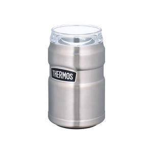 サーモス THERMOS 真空断熱缶ホルダー 350ml缶用 [カラー:ステンレス] #ROD-002-S|telemedia