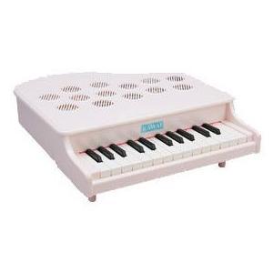 河合楽器製作所 1108(1108-9) ミニピアノP-25(ピンキッシュホワイト) (おとをだして...