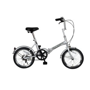 『送料無料』ミムゴ mimugo FIELD CHAMP 16インチ折畳自転車 シングルギア 72750 シルバー『代引き・時間指定不可』|telj