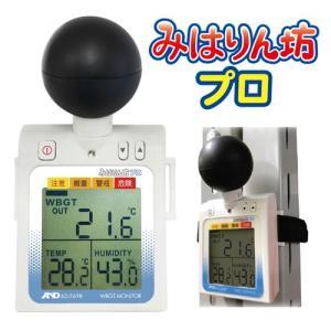 A&D 熱中症指数モニター みはりん坊プロ AD-5698 黒球付き エーアンドデイ AD5698