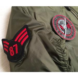 MA1 メンズ フライトジャケット 大きいサイズ 薄手 ノーブランド 中綿入り telj