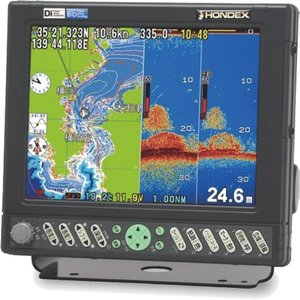 ホンデックス (HONDEX) プロッター魚探 HE-730S 出力1kW GPSアンテナ付属|telj