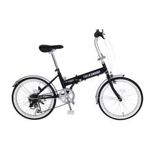 『送料無料』ミムゴ mimugo FIELD CHAMP 20インチ折畳自転車 6段ギア MG-FCP206 ブラック『代引き・時間指定不可』|telj
