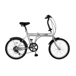 『送料無料』ミムゴ mimugo ACTIVE PLUS 911 ノーパンク20インチ折畳自転車 6段ギア MG-G206N-SL シルバー『代引き・時間指定不可』|telj