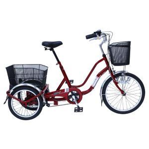 ミムゴ MG-TRW20NE ワインレッド ノーパンク三輪自転車 SWING CHARLIE911(スイングチャーリー911) 『代引き不可』|telj