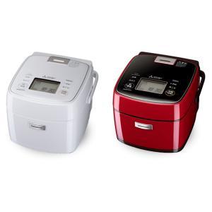 『ホワイト:2021年10月下旬頃入荷予定』炊飯器 炭炊釜 三菱電機 Mitsubishi Electric  NJ-SEB06-W NJ-SEB06-R 0.5〜3.5合 真紅 レッド 赤 月白 ホワイト 白 telj