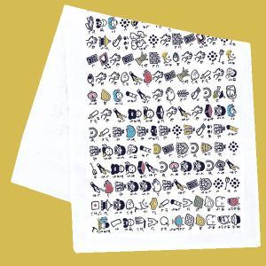 絵心経の「京都くろちく 絵心経 手拭いたおる」。 絵心経とは昔、字の読めない庶民のために絵で表した般...