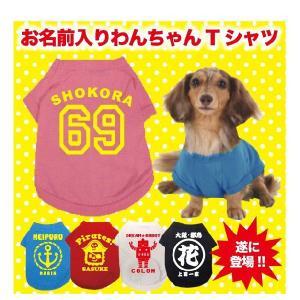 犬用 Tシャツ お名前入りベースボール犬Tシャツ|temegane8