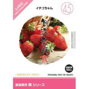 写真素材集 創造素材 食シリーズ(45) イチゴちゃん|temptation