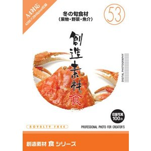 写真素材集 創造素材 食シリーズ(53)冬の旬食材(果物・野菜・魚介)|temptation
