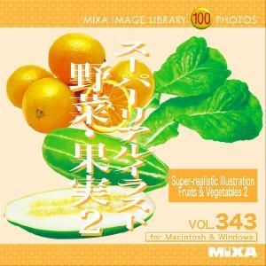 イラスト素材集 IMAGE LIBRARY Vol.343 スーパーリアルイラスト 野菜・果実2|temptation