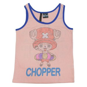 ワンピース Tシャツ チョッパー ラインストーン タンクトップ ピンク OUTLET|ten-ten-store