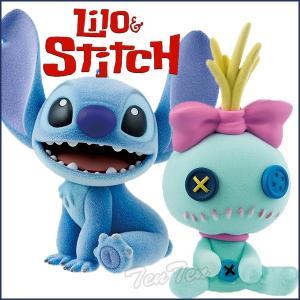 ディズニー スティッチ フィギュア ディズニーキャラクターズ Fluffy Puffy スティッチ&スクランプ 全2種セット ten-ten-store