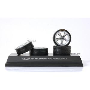 【ホットワークス】 1/18 スケール用  TechArt Rim-Program Formula シルバー ホイール モデル  |ten-ten-store