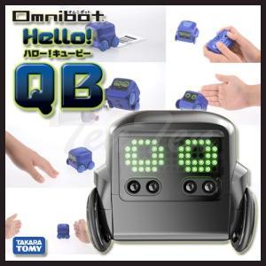 Omnibot (オムニボット) ハロー! QB (キュービー) ブラック ロボット玩具 贈り物やプレゼントに|ten-ten-store