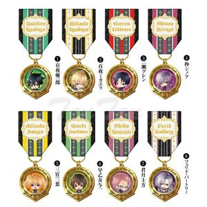 終わりのセラフグッズ デコレーションメダル 8個入り BOX ピンバッジ|ten-ten-store