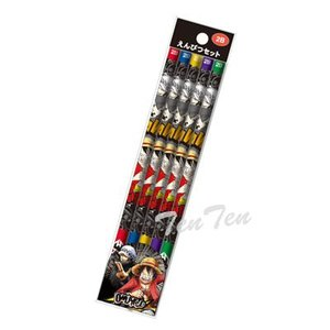 ワンピース グッズ 文房具 えんぴつ5本セット 2B パンクハザードシリーズ 鉛筆|ten-ten-store