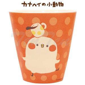 カナヘイの小動物 グッズ メラミンコップ 鳥 食器 LINE スタンプ カナヘイ ピスケ|ten-ten-store