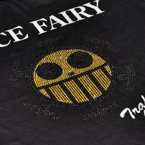 ワンピース Tシャツ ロー ラインストーン ロングTシャツ ブラック 長袖 ten-ten-store 02