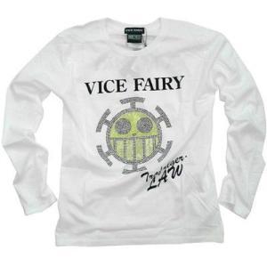 ワンピース ロングTシャツ ロー ラインストーン VICE FAIRY ホワイト 長袖|ten-ten-store