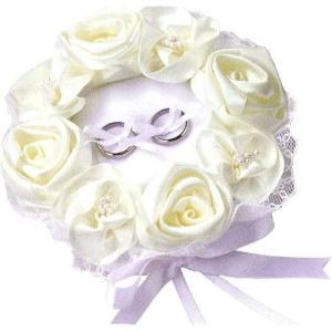 ハマナカ ウェディングキット Wedding Rose (ウェディングローズ) ローズのリングピロー ホワイト H431-120|tenbin-do